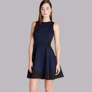 Ted Baker London Sew In Love Navy Black Dress